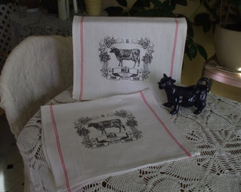 Farmhouse Kitchen Towels - Set of 2