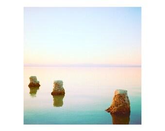 Print Only - Salton Sea California Film 120mm Pastel Sunset Sunrise Water Peaceful Landscape Waterscape Color Photography Photograph Square