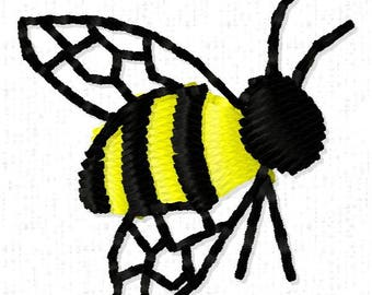 Bee Machine Embroidery Design - Instant Download