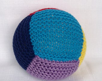 Cotton Baby Ball Rattle - Multi Colours