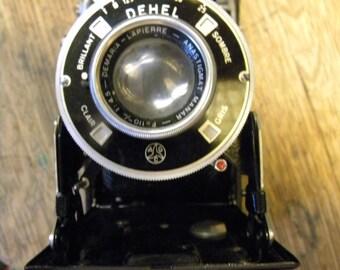 great shape clean vintage antique 1930s DEHEL DEMARIA ANASTIGMAT manar folding camera