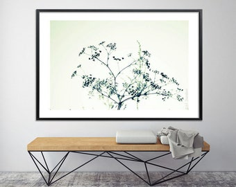 Modern botanical art Poster bed Large canvas art Large Wall art prints Bedroom art by Duealberi