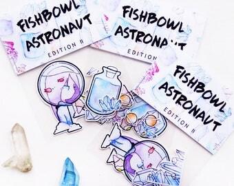 II. fishbowl astronaut set | STICKER