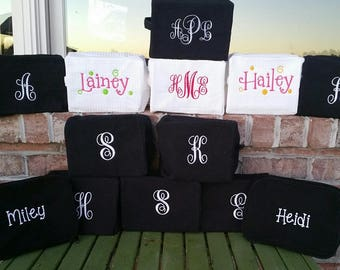 Waffle Bag. . .Wedding Gifts for Bride, Bridesmaids, Moms. Great for Makeup, Travel or just to help you organize - Monogrammed FREE