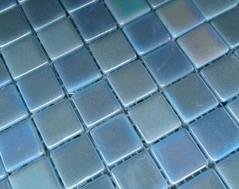 Blue Glow in the Dark Glass Tiles
