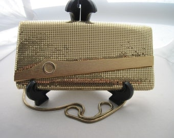 Gold Mesh Clutch Evening Bag and Hand Bag by Oromesh