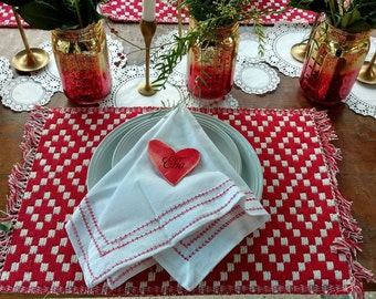 Valentine's Placemats, Rustic Wedding, Rustic Christmas, Rustic Valentine's , Rustic Table, Rustic Table Scape Kit  By Foo Foo La La