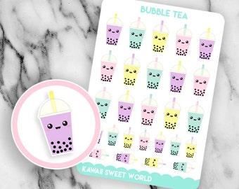 Kawaii Bubble Tea | Planner Sticker Sheet