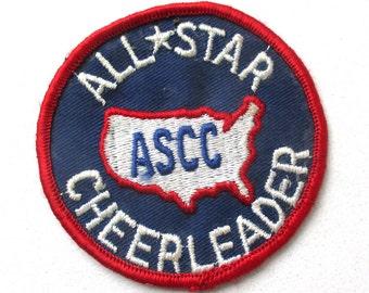 "3"" Cheerleader All Star Patch, Sports Merit, Cheer Award, School Spirit"