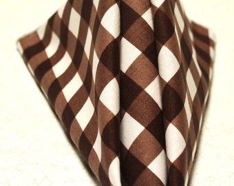 "14"" x 14 Brown Gingham Cloth Napkins"