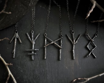 Twig Rune Unisex Necklace