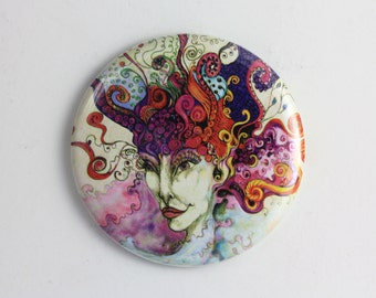 Fine Art Mirror - Pocket Mirror - Fashion Accessory - Giftware - From Original Art
