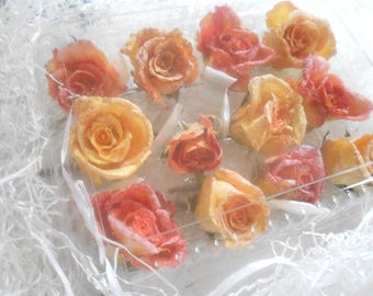 Gourmet, Candied Flowers, Crystallized, Long Lasting, Edible, Weddings, Cupcake Toppers, Naked Cake Flowers