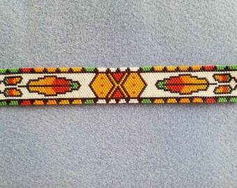 Beaded Peyote stitch bracelet.