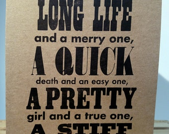 Long Life & Whiskey Motivational Poster