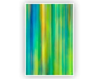 Abstract Art, Modern Flowing Lines, Green, Blue, Teal, Vertical Print, Home Decor, Colorful Contemporary Artwork, Fine Art Photography