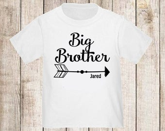 Big Brother Arrow Personalized T-Shirt Boys Big Brother Shirt