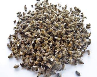 0.5oz/15gr Organic dried dead body bees APISTOTALE bee venom podmore propolis honey pollen beeswax royal jelly