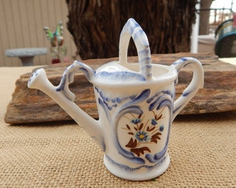 Enesco Watering Can  ~  Enesco Japan Watering Can  ~  Enesco Blue and White Porcelain  ~  Enesco Blue and White Watering Can  ~ Enesco Japan