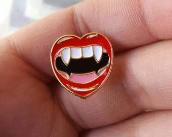 Vampire Fangs Enamel Pin