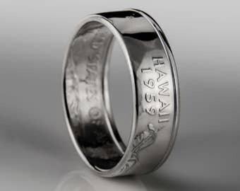 Hawaii Quarter - Coin Ring - SILVER (.900)