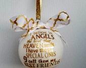 Best friend ornament / Heaven / Angel ornament / Girlfriend gift