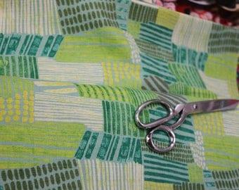 Japanese Kokka /Echino Fabric - Kuiskaus by Sawako URA (green)
