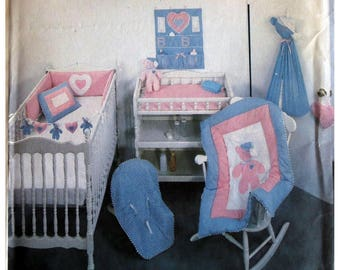 Baby Quilt, Pattern, Nursery Accessories Pattern, Simplicity 125, UNCUT, Diaper Holder,  Organizer, Pillow Cover, Crib Toy