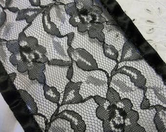 """EXTRAORDINARY Antique French Alencon Silk Lace...Lace 4.5"""" Wide by  1 Yards..PERFECT...New Old Stock...RESERVED"""