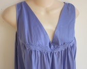 SALE - Plus size nightgown Vanity Fair free bust lilac lingerie 1X