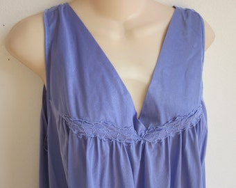 Plus size nightgown Vanity Fair free bust lilac lingerie 1X