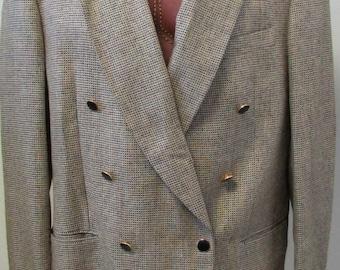 Vintage Alfredo Rodina Made in Italy Bilo's Sport jacket Coat Blazer Size XL (44) Silk/Wool Retro Clothing 1970s