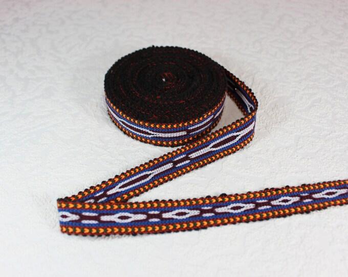 Woven Trim (6 yards), Woven Border, Cotton Ribbon, Grosgrain Ribbon, Dress Border, Border Trim, R159