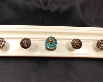 Jewelry Organizer, Wall Jewelry Organizer, Ivory Necklace Holder, Holder for Necklaces, Ready to Ship, Jewelry Gift Under 35
