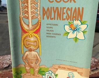 "Vintage 60's  ""COOK POLYNESIAN"" Paperback Spiral Cookbook  by Chef Kurt"