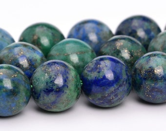 "6MM Azurite Beads Grade AAA Natural Gemstone Full Strand Round Loose Beads 15"" BULK LOT 1,3,5,10 and 50 (101113-807)"