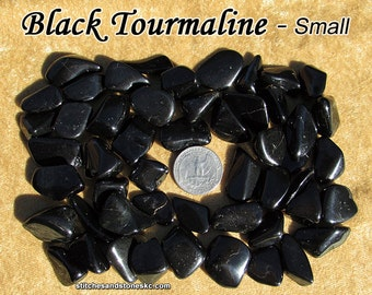 Black Tourmaline Schorl tumbled stone for crystal healing