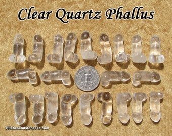 "Clear Quartz Phallus ""Peckerette"""