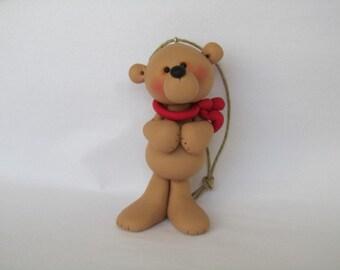 Polymer Clay Bear Ornament