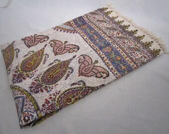 Vintage Batik Paisley Throw