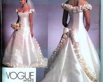 Brand New BELLVILLE SASSOON VOGUE Designer Original Pattern  v1095 Sz 6-10 Gorgeous Designer  Couture Bridal Gown