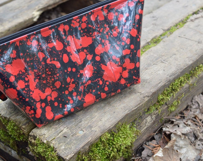 Handmade Blood Splatter Large Makeup Bag