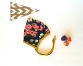 Pixie hat baby girl bonnet pilot mustard navy pink floral