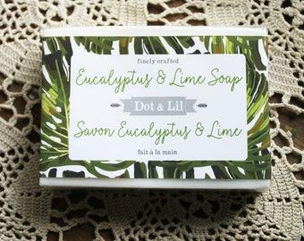 Eucalyptus & Lime scented vegan soap