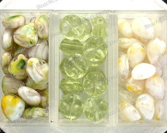 Sale Beads, Closeout Beads, Destash Beads, 61 Glass Briolette Beads, Faceted Glass Teardrop Beads, Destash Supplies DS-741-5