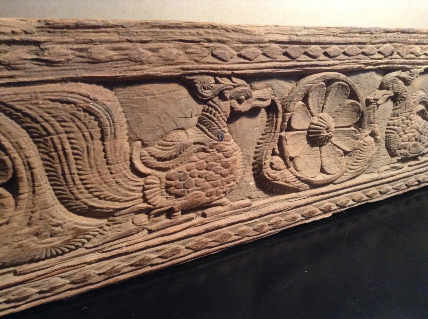 antique carved wood architectural trim carved wood panel from
