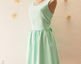 Flash Sale Mint Green Dress Mint Party Dress Mint Summer Dress Mint Green Bridesmaid Dress Party Dress Wedding Bridal Shower Dress -Size ...