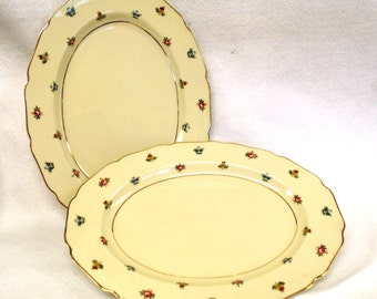 """Pair Continental Ivory """"Rob Roy"""" Platters, Germany"""