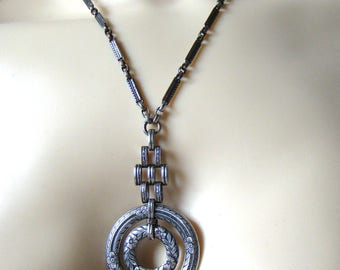 Upcycled Necklace Antique Watch Chain