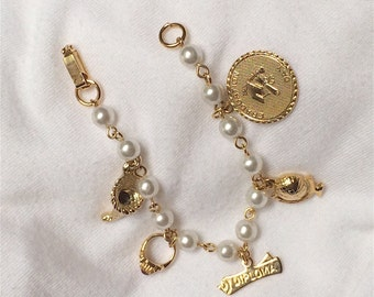 Child's Small Graduation Charm Bracelet 1960s